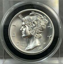 2oz Mercury Dime Design ~ Ultra High Relief ~ 2oz .999 Fine Silver w/Capsule