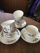 Grindley England The Seville Orange Tree cups & saucers x 5 from tea set