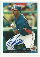Autographed Signed 2009 Topps 133 Brandon Jones Atlanta Braves Tough Signature