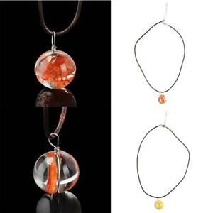 Women Necklace Circle Crystal Ball Glass Dried Flower Pendant Choker Jewellery