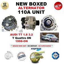 per AUDI TT 1.8 3.2 T- QUATTRO 8N DAL 1998 IN POI NUOVO 110A Alternatore CON BOX