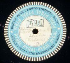 2 x 78 trs / 78 RPM Pyral (30 cm & 25 cm) Mihalovici Sonatine Roland Rigoutat