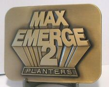 John Deere Max Emerge 2 Planter Belt Buckle 1987 Moline IL JD Collectible  NEW!