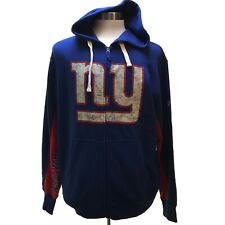 New York Giants NFL Hands High Game Day Fleece Hoodie Jacket M NWT (1J03)