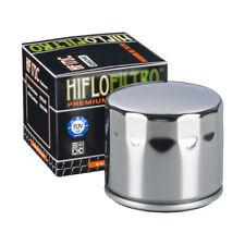 HIFLO HF172C Motocicleta Cromo Recambio Premium Filtro de aceite del motor