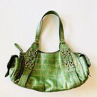 Cole Haan handbag leather Green Crocodile Village F05 Shoulder Bag Satchel