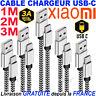 CHARGEUR CABLE POUR XIAOMI NOTE 9 MI 10T 8T PRO RENFORCE CHARGE RAPIDE 1M 2M 3M