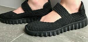 Bernie Mev Ladies Womens Charm Woven Walkers Slip On Casual Sandals US 7 EUR 38