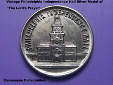 Philadelphie Independence Hall médaille d'argent de la Lord's Prayer 'AH5535.