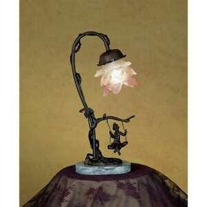 Meyda Lighting 14'H Cherub On Swing Accent Lamp - 17855