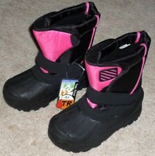 GIRLS SIZE 12 INSULATED -5 Degrees WINTER SNOW BOOTS BLACK & PINK - BRAND NEW