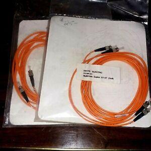Fiber Optics Patch Cable Cord 2 X 3m ST/ST D33M 3mil Duplex Multi Mode Optic