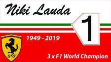 Niki Lauda F1 Sticker 120mm Width Ferrar F1 Super Rat Stickers Decal
