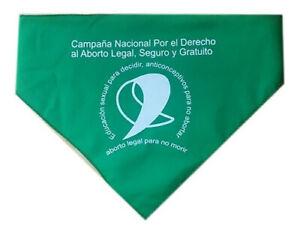 Pañuelo Aborto Legal Verde Argentina Legalización mujeres derecho