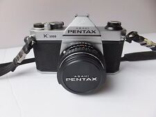 Asahi Pentax K1000 35mm SLR Film Camera w/ smc Pentax 50mm 1:2 Lens