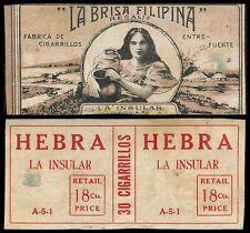 Philippines LA BRISA FILIPINA REGALIZ Cigarette Label