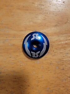 "SE BMX Repop Bicycle Headset Top Cap 1 1/8"" Blue Stem Cap Bike"