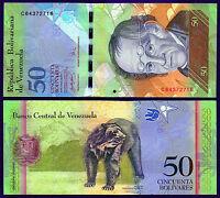 "Venezuela ""Rodriguez"" (2007) 50-Bolivares {SINGLE} UNC Banknote: P92x(2007)"