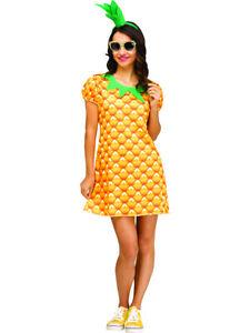 Adult's Womens Flirty Fruit Pineapple Tunic Costume