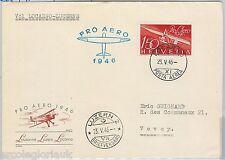 AIRMAILspecial  FLIGHT COVER - SWITZERLAND : Locarno - Luzern  - 23.05.1946