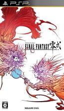 USED PSP Final Fantasy Type 0 Zero Rei Shiki SQUARE ENIX Free Shipping Japan