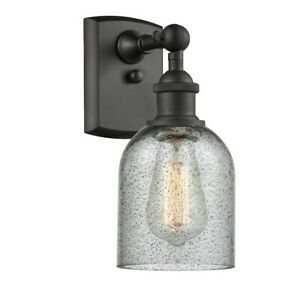 """Innovations Caledonia 5"""" Sconce, 516-1W Series, ORB/Charcoal - 516-1W-OB-G257"""