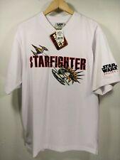 NWT Vintage 90s Star wars Episode 1 Embroidered Starfighter Jersey / T Shirt M