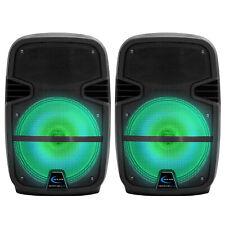 """Par de altavoces Tpro total 1600W Sistema De Altavoces Bluetooth LED Recargable de 8"""""""