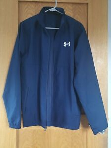 Under Armour Mens Navy Blue Lightweight Heatgear Zip Up Jacket - Small