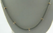 """8.8 GRAMS STERLING SILVER & ROSE GOLD PLATE 16"""" ITALIAN MILOR BRAND NECKLACE L11"""