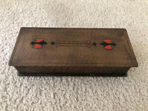 Antique Craftsman Studios Copper Hand Made Box Made in Laguna Beach Calif. 460