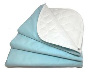 RMS 4-Layer Washable Resuable Incontinence Bed Pads Bed Underpads 8 Size Choices