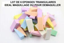 LOT DE 6 EPONGES PREDECOUPEES TRIANGULAIRE FOND DE TEINT MAQUILLAGE EPO800