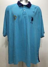 US Polo Assn Aqua Blue Rugby/polo Men Short Sleeve Size 5X