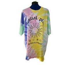 Urban Outfitters Damen purple Dye T-Shirt Kurzarm Shirt Größe UK LARGE L