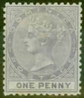 Dominica 1874 1d Lilac SG1 Fine Mtd Mint.