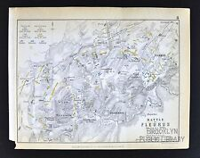 1850 Johnston Military Map - Napoleon Battle of Fleurus 1794 - Hainaut Belgium