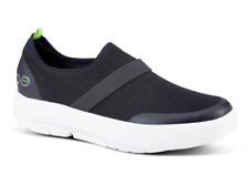 Oofos OOmg Slip- On Tennis Shoe- Black/White