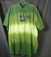 NWT Casual Male  Big Short Sleeve Shirt Men's Big And Tall Vintage Wash Size 3X