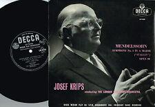 "MENDELSOHN Symphony No.4 Italian 10"" LP LSO Josef Krips DECCA UK 1959 LW5258 @EX"