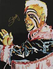 Autographed Sting 18 x 24 Poster, Print WWE NWA WCW WWF NWO Surfer