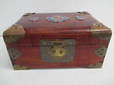 VINTAGE CHINESE JEWELRY CHEST SHANGHAI CHINA  BRASS HARDWARE  3928