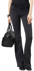 Diesel Women's Jeans Size 31 Livier-Flare Super Slim-Flare Low Waist L32