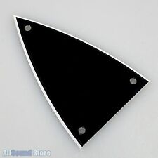 NEW - 2-Ply 3-Screw Triangle Guitar Truss Rod Cover Plate - BLACK