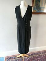 PRINCIPLES WOMENS LADIES STUNNING VINTAGE RETRO STYLE DRESS SIZE 12 BLACK