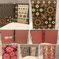 VERA BRADLEY Mini 3-Ring Binder - Multiple Patterns - NEW - 9 x 7