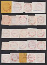 TASMANIA 1970s/90s: 24 different PAID postmarks including scarcer - full strikes