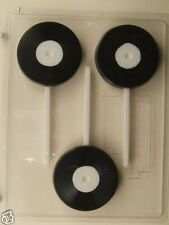 45 RPM RECORD LOLLIPOP CLEAR PLASTIC CHOCOLATE CANDY MOLD AO009
