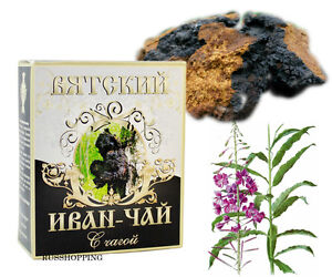 Willow Herb + chaga mushroom, EPILOBIUM ORGANIC IVAN TEA 100 gr Russian premium