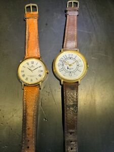2 Unisex ? Vintage Quartz Analogue Watches VGC no damage Lorus & Biggies